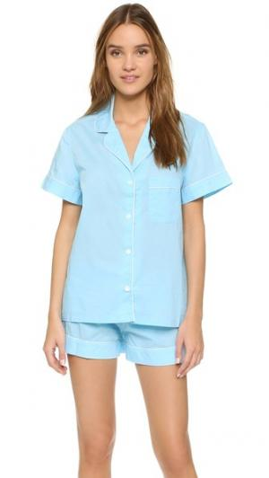 Пижама Eloise Three J NYC. Цвет: однотонная морская волна/белая отделка