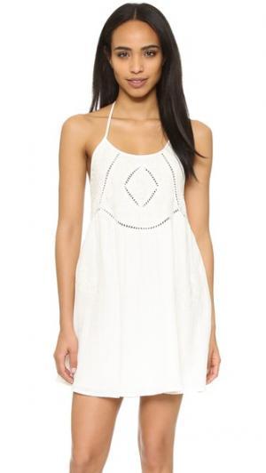 Вышитое платье Prine с американской проймой Rory Beca. Цвет: золотой