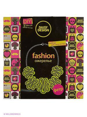 Набор для создания ожерельяЛайм NEON Daisy Design. Цвет: черный