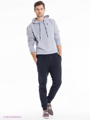 Спортивный костюм Runika. Цвет: серый меланж, темно-синий