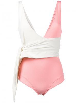 Слитный купальник Dree Lisa Marie Fernandez. Цвет: розовый и фиолетовый