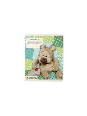 Тетрадь в линейку Мишка Тедди, 24 листа, 10 шт. Альт. Цвет: синий