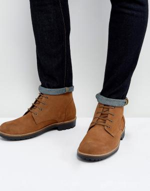 Dead Vintage Бордовые замшевые ботинки со шнуровкой. Цвет: рыжий