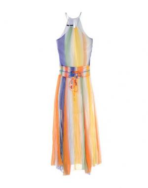 Длинное платье TENAX. Цвет: желтый
