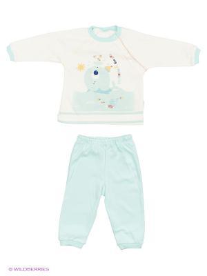 Костюм для малышей WO&GO. Цвет: белый, морская волна