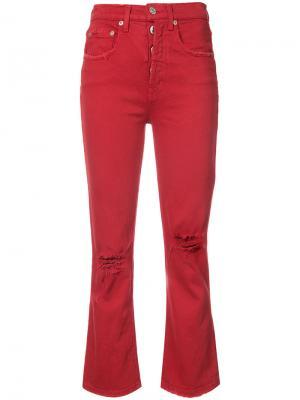 Укороченные брюки Adaptation. Цвет: красный