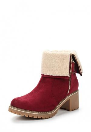 Ботильоны Ideal Shoes. Цвет: бордовый