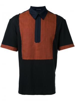 Рубашка-поло с необработанными краями Consistence. Цвет: чёрный
