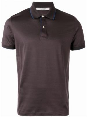 Рубашка-поло с контрастной окантовкой La Fileria For Daniello D'aniello. Цвет: серый