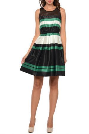 Платье SEVENTY. Цвет: черный, зеленый