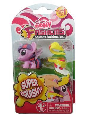 Детский игровой набор Мой маленький пони, в наборе игрушка-мялка и аксессуары, сумеречная искорка Hasbro. Цвет: сиреневый