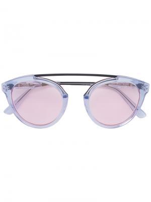 Солнцезащитные очки с розовыми стеклами Westward Leaning. Цвет: синий