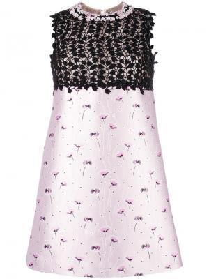 Платье с цветочным узором Giambattista Valli. Цвет: розовый и фиолетовый