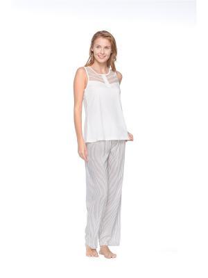 Пижама Kom. Цвет: серый, молочный