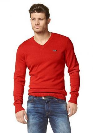 Пуловер BRUNO BANANI. Цвет: красный
