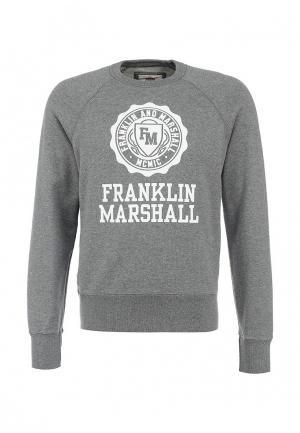 Свитшот Franklin & Marshall. Цвет: серый