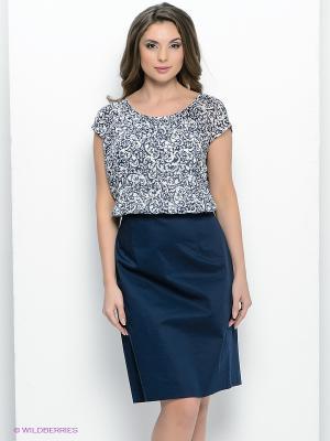 Платье Femme. Цвет: темно-синий