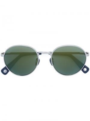 Солнцезащитные очки в круглой оправе Vilebrequin. Цвет: металлический