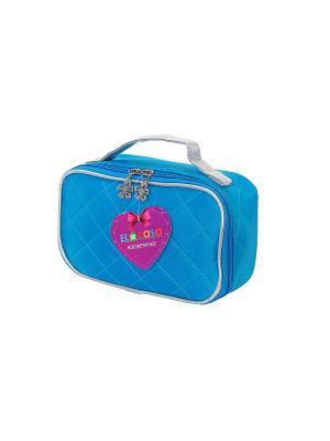 Косметичка Голубая EL CASA. Цвет: голубой
