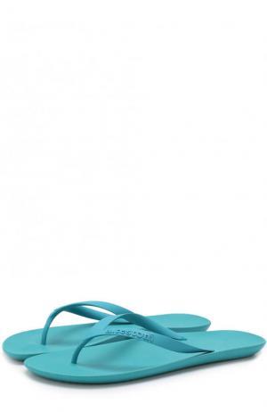 Резиновые шлепанцы A. Testoni. Цвет: голубой