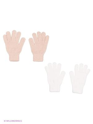 Перчатки - 2 пары FOMAS. Цвет: белый, серый, розовый