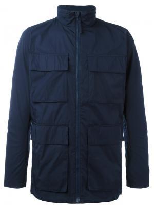 Куртка с высокой горловиной на молнии Norse Projects. Цвет: синий