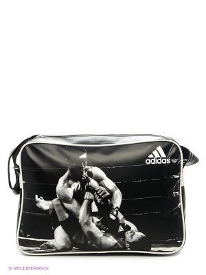 Сумка спортивная Sports Bag MMA Adidas. Цвет: черный