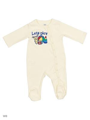Комбинезон нательный для малыша Modis. Цвет: бежевый, кремовый, серый