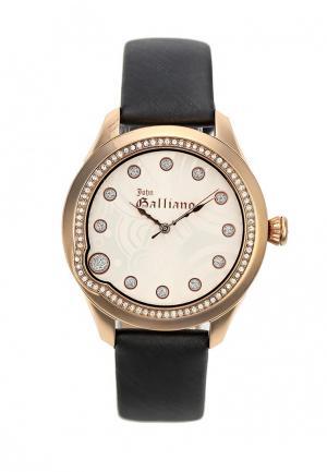 Часы Galliano. Цвет: черный