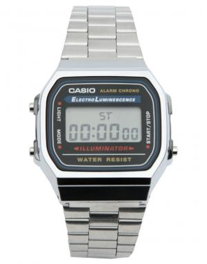 Casio Электронные часы-браслет A168WA-1YES. Цвет: серебряный