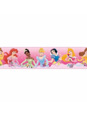 Наклейки для декора Дисней : Принцессы - орнамент ROOMMATES. Цвет: бледно-розовый