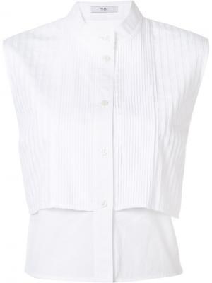 Рубашка Sleeveless Bib Front Tome. Цвет: белый