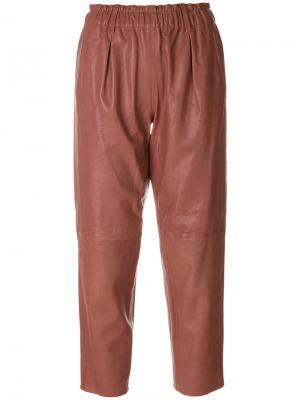 Укороченные брюки Forte. Цвет: розовый и фиолетовый