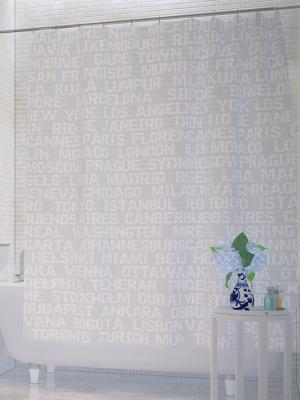Штора д/ванн 180х200 City (шт.) Bacchetta. Цвет: светло-серый, белый