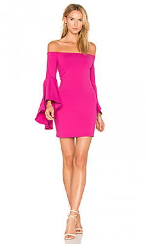 Платье со спущенными плечами Susana Monaco. Цвет: фиолетовый
