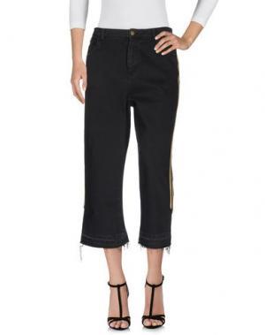 Джинсовые брюки LANEUS. Цвет: черный