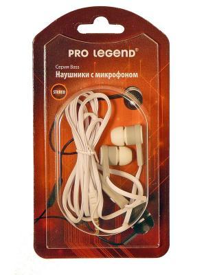 Наушники с микрофоном pro legend bass. Цвет: белый