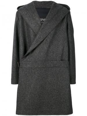 Пальто с запахом Cini. Цвет: серый