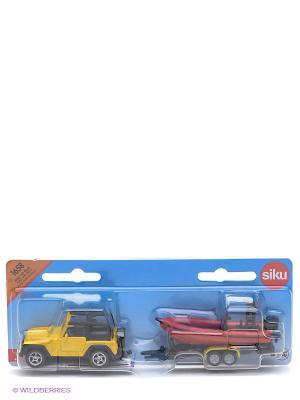 Джип с лодкой SIKU. Цвет: синий