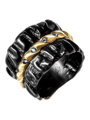 Кольцо Балтийское золото. Цвет: черный, голубой, золотистый, лазурный, синий