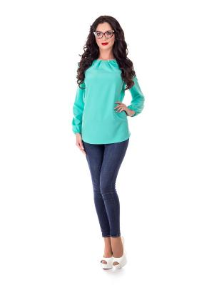 Блузка Liza Fashion. Цвет: зеленый