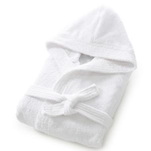 Халат с капюшоном, махровая ткань, 450 г/м², качество Best La Redoute Interieurs. Цвет: белый,зелено-синий,розовая пудра,шафран
