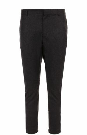 Укороченные брюки прямого кроя из смеси шерсти и кашемира Lanvin. Цвет: темно-серый