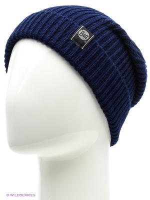 Шапка BUFF KNITTED HATS BASIC BLACK IRIS. Цвет: темно-синий