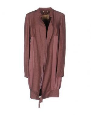 Легкое пальто DANIELE ALESSANDRINI. Цвет: пурпурный