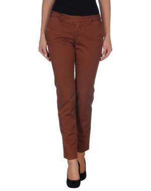 Повседневные брюки D-21. Цвет: коричневый