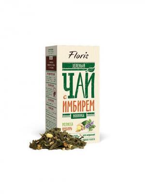 Floris Зеленый чай с имбирем и мелиссой, 100 гр. Цвет: белый
