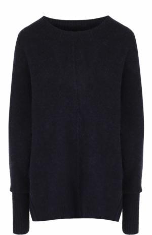 Удлиненный вязаный пуловер с круглым вырезом Isabel Marant Etoile. Цвет: темно-синий