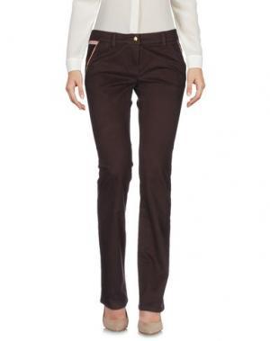Повседневные брюки PIERO GUIDI. Цвет: темно-коричневый