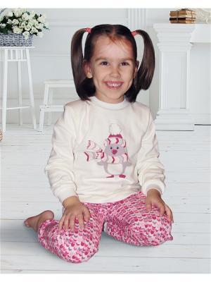 Пижама Веселый малыш. Цвет: розовый
